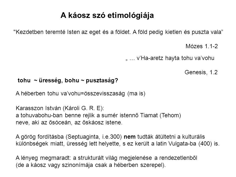 A káosz szó etimológiája