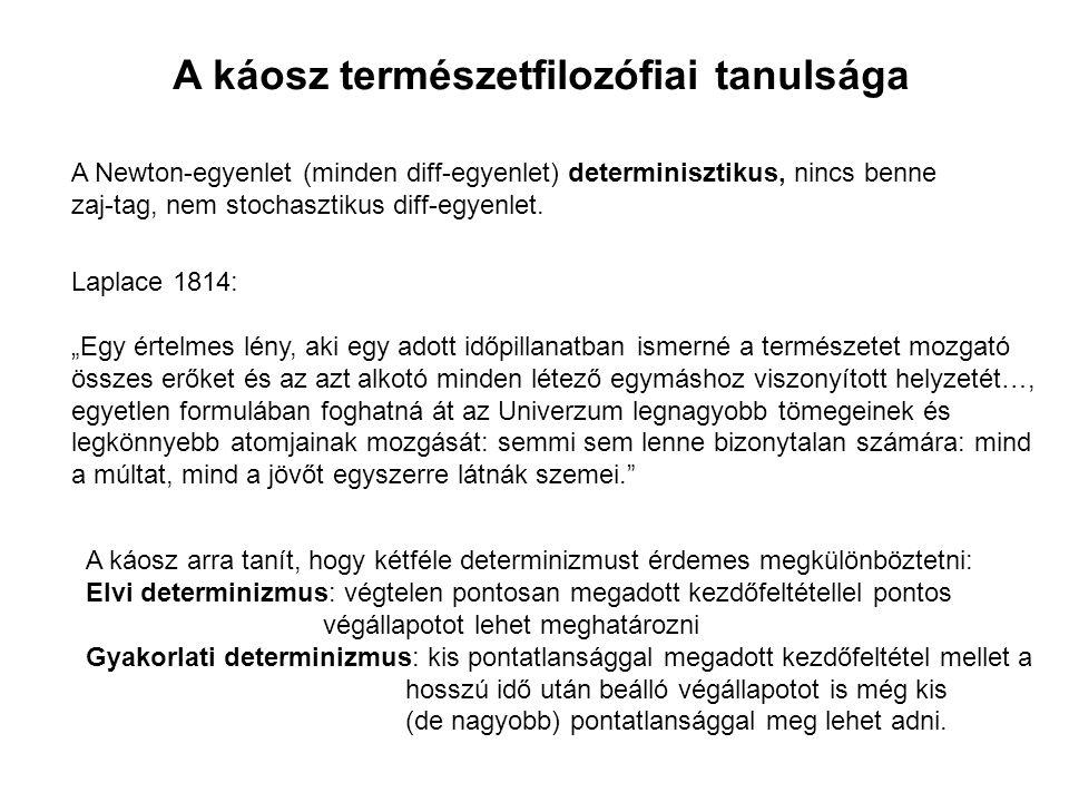 Bóják sodródása a Dunán a BME Vizgazdálkodási Tanszékkel A vizsgált Duna szakasz, Göd Bizonyos helyeken és időkben a Ljapunov-exponens pozitív -> káosz, ott erős keveredés