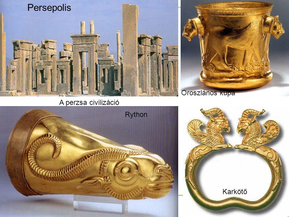 Persepolis Rython Karkötő Oroszlános kupa A perzsa civilizáció
