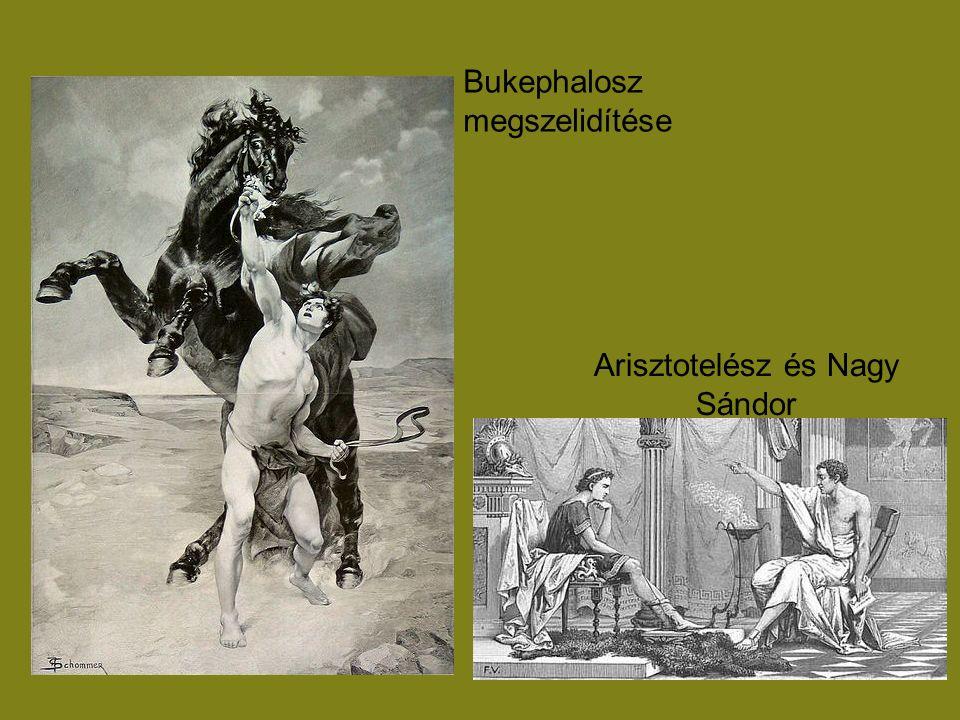 Bukephalosz megszelidítése Arisztotelész és Nagy Sándor