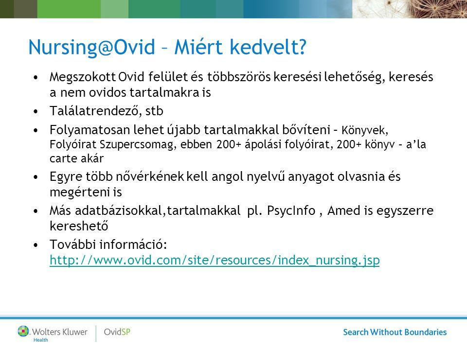 Nursing@Ovid – Miért kedvelt.