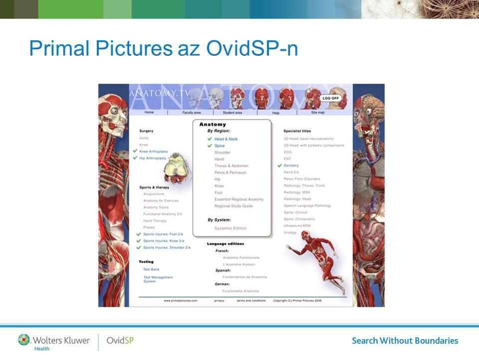 Primal Pictures az OvidSP-n