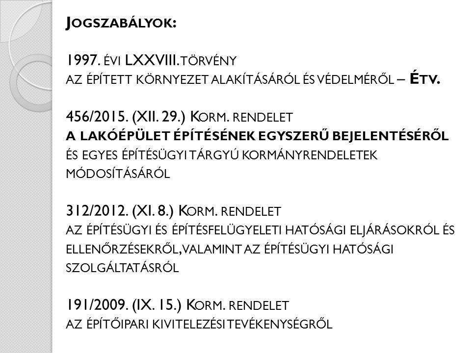 A BEJELENTÉS MELLÉKLETÉT KÉPEZŐ EGYSZERŰ BEJELENTÉSI DOKUMENTÁCIÓ TARTALMA : 456/2015.