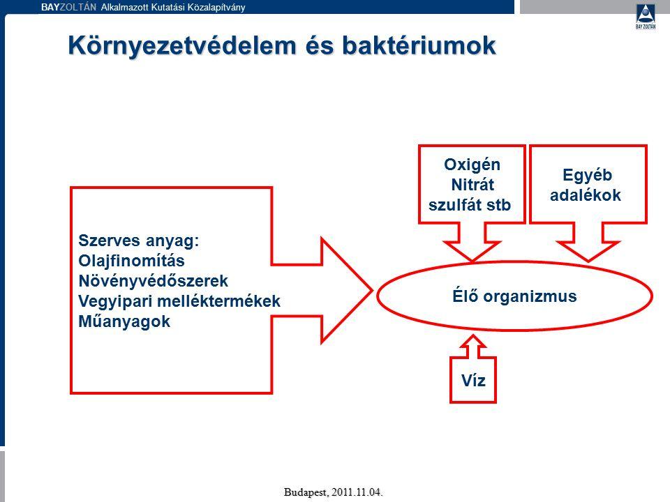 BAYZOLTÁN Alkalmazott Kutatási Közalapítvány A technológia két fő lépése Budapest, 2011.11.04.