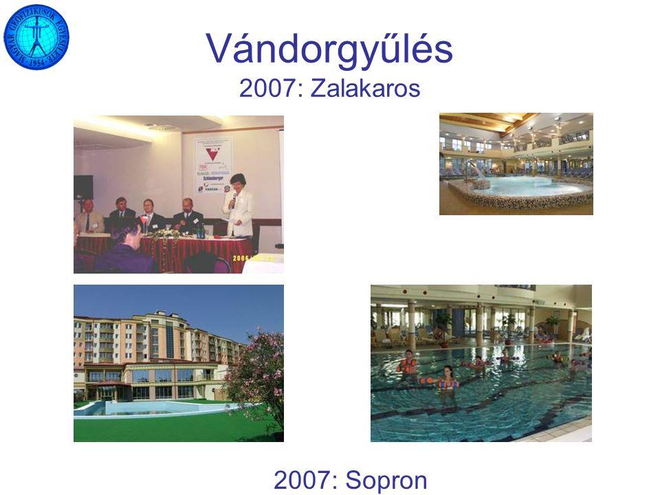 Vándorgyűlés 2007: Zalakaros 2007: Sopron