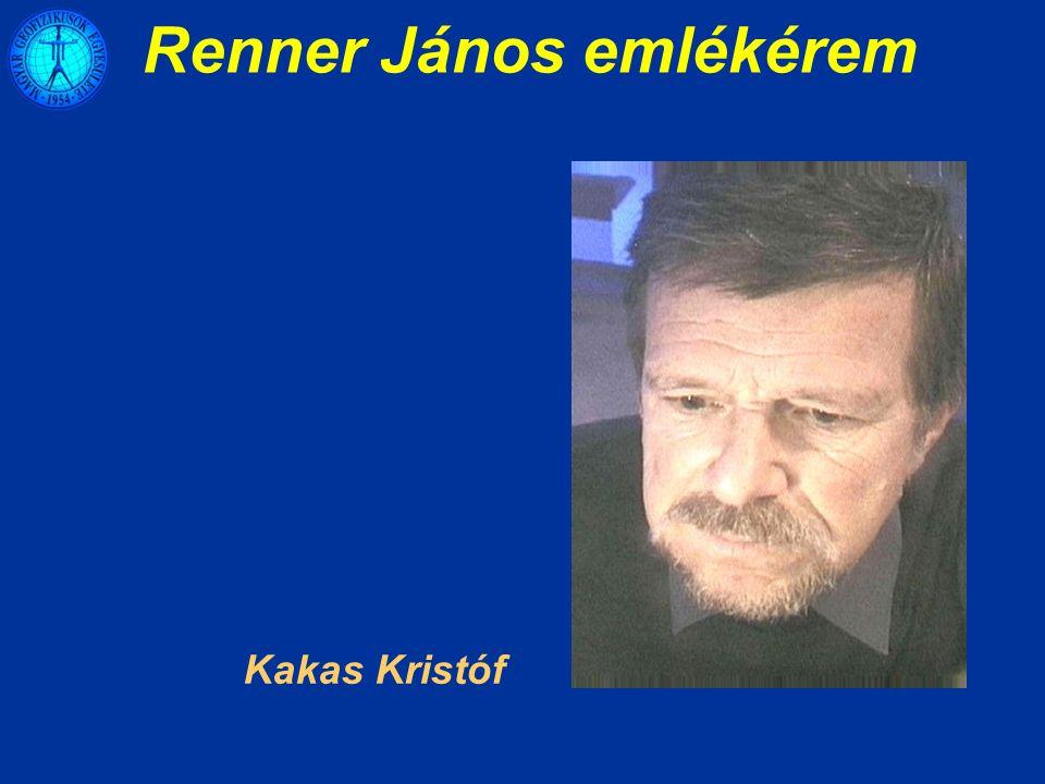 Renner János emlékérem Kakas Kristóf