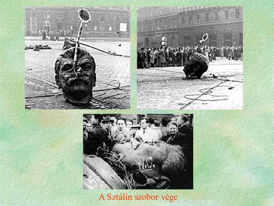 A Sztálin szobor vége