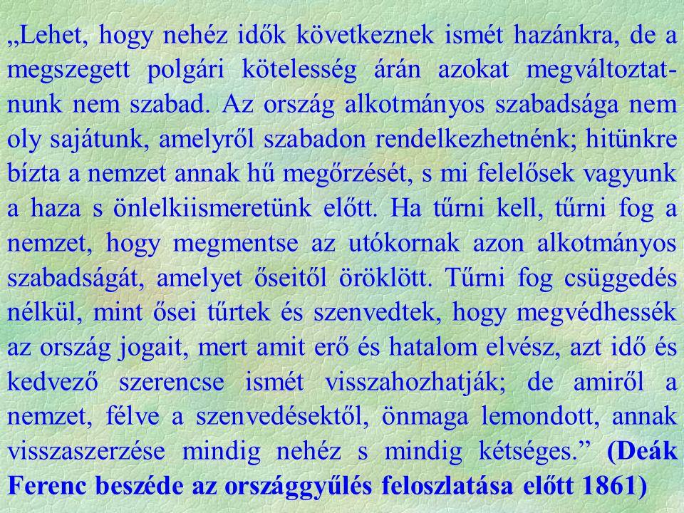 "Gróf Apponyi GyörgyDeák Ferenc ""Úgy halljuk, hogy gr."