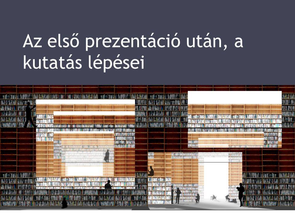 Az első prezentáció után, a kutatás lépései