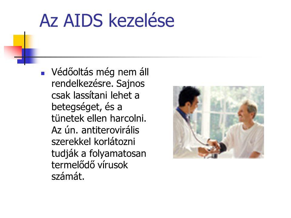 Az AIDS kezelése Védőoltás még nem áll rendelkezésre.