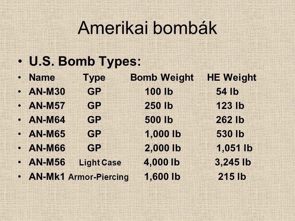 DEMO-2000LB AN-M 34 Tömeg:225kg Hossza:1465mm Átmérő:349mm Anyaga: Robb.ag.tömege:110 kg Robb.ag.típusa: Gyújtó:M-103,M- 102,M-101