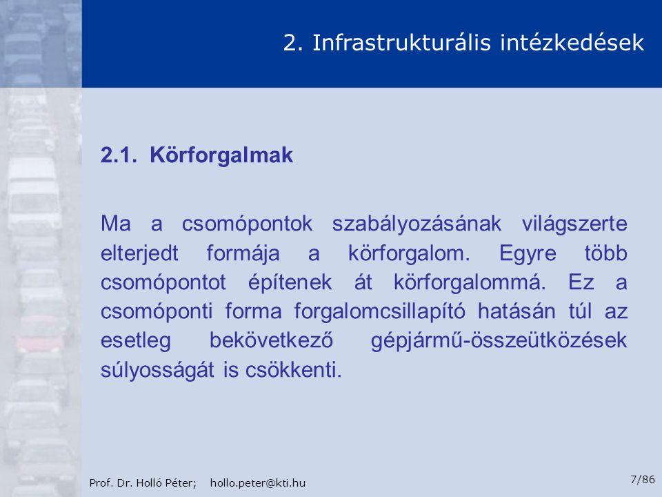 Prof. Dr. Holló Péter; hollo.peter@kti.hu 78/86 8. Intézkedések balesetszám csökkentő hatása