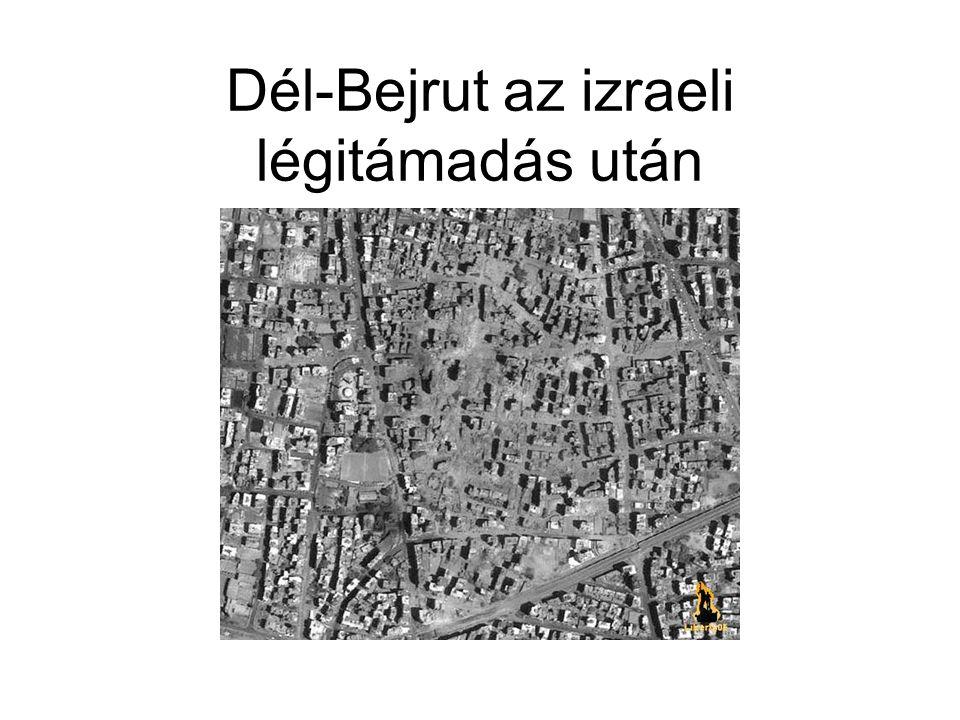 Dél-Bejrut az izraeli légitámadás után
