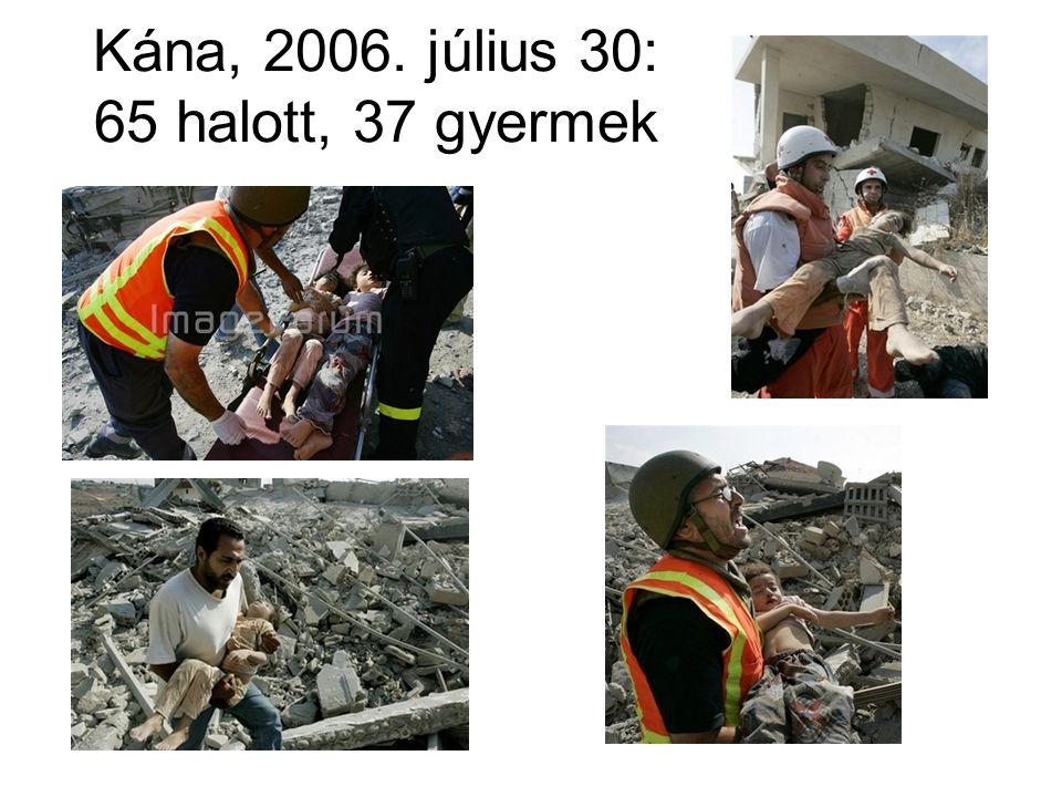 Kána, 2006. július 30: 65 halott, 37 gyermek