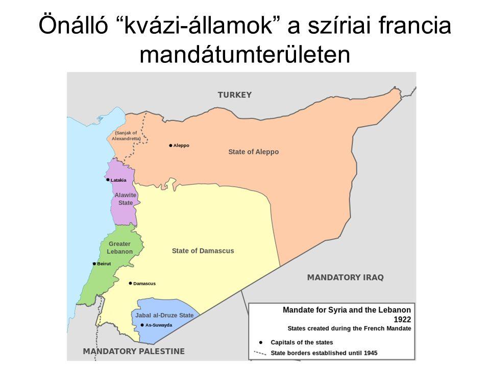 """Önálló """"kvázi-államok"""" a szíriai francia mandátumterületen"""