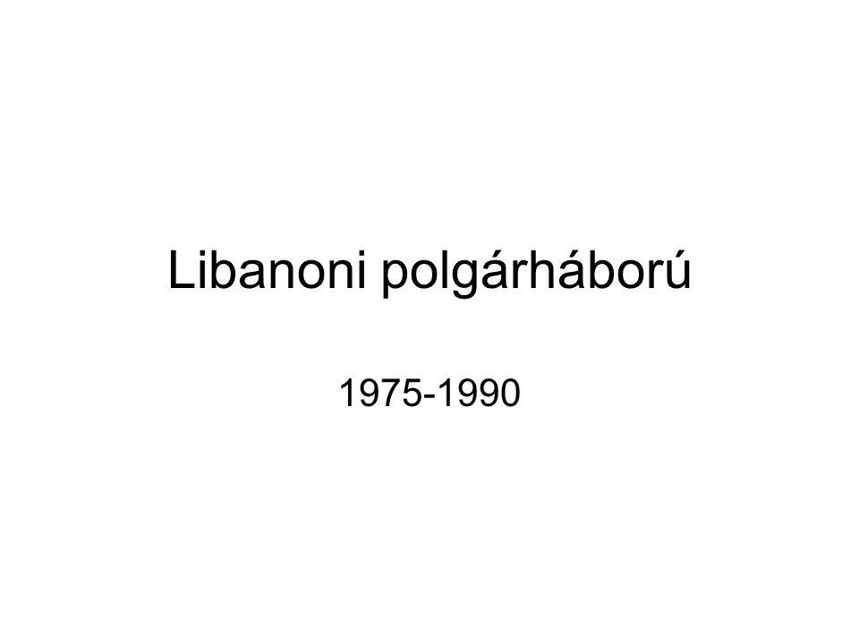 Libanoni polgárháború 1975-1990