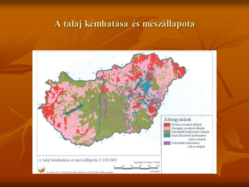 A talaj kémhatása és mészállapota