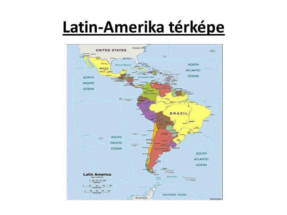 Latin-Amerika térképe