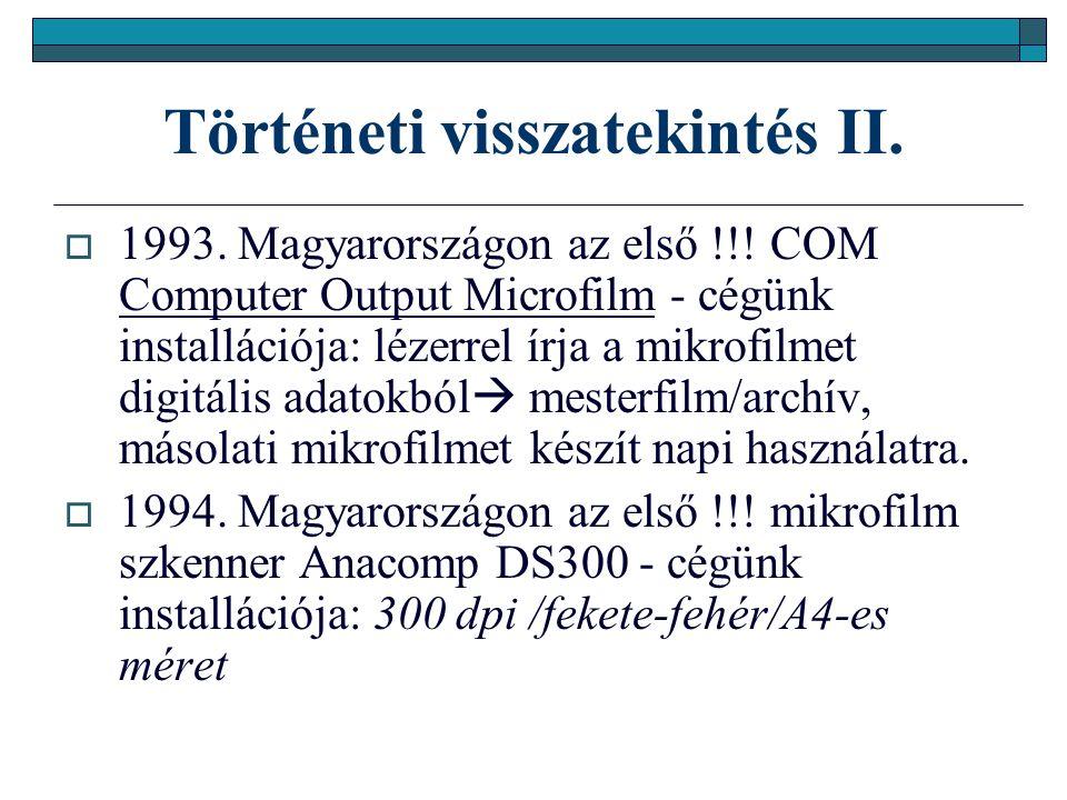 Dokumentum - a digitalizálás eszközei IV.