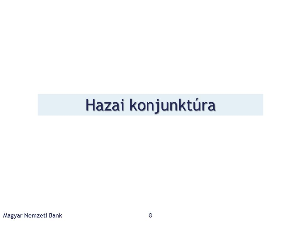 2016 elején enyhe lassulás, de az év második felétől ismét élénkül a növekedés, melyet a belső kereslet erőteljes javulása támogat Magyar Nemzeti Bank9 Forrás: KSH, MNB Felhasználási tételek növekedéshez való hozzájárulása (éves változáshoz való hozzájárulás, százalékpont)