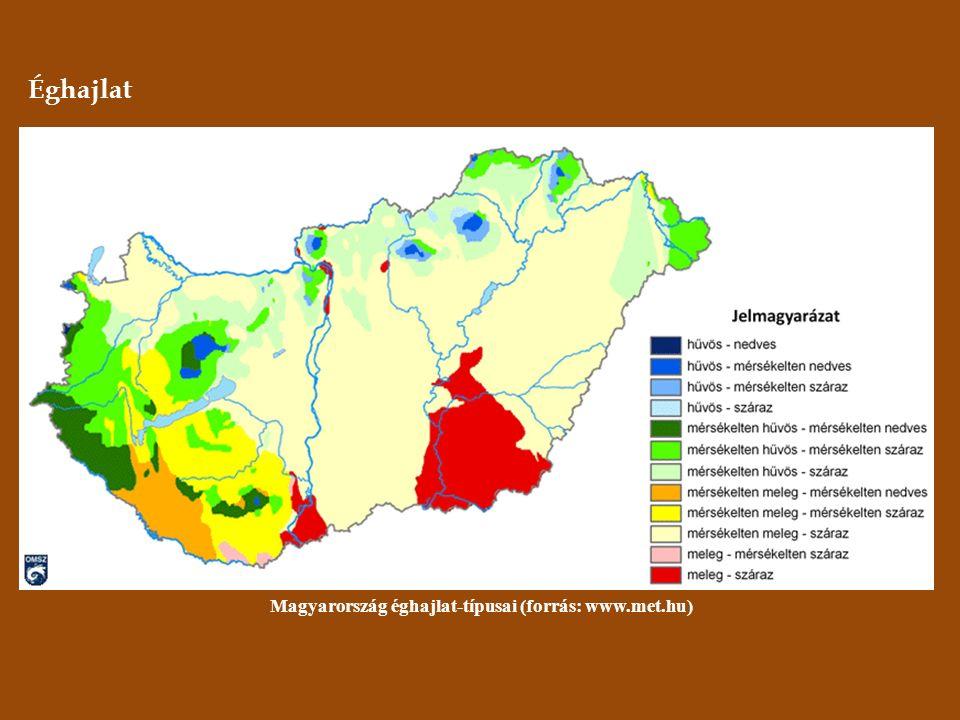 Éghajlat Magyarország éghajlat-típusai (forrás: www.met.hu)