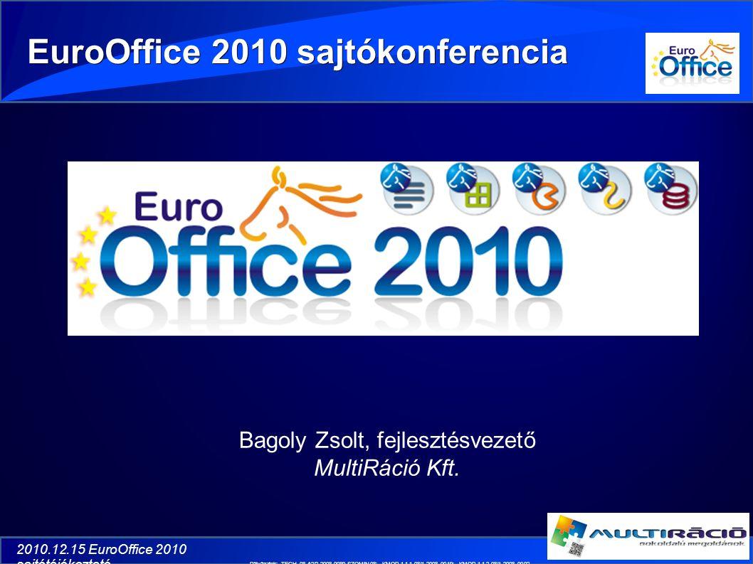 2010.12.15 EuroOffice 2010 sajtótájékoztató Bagoly Zsolt, fejlesztésvezető MultiRáció Kft.