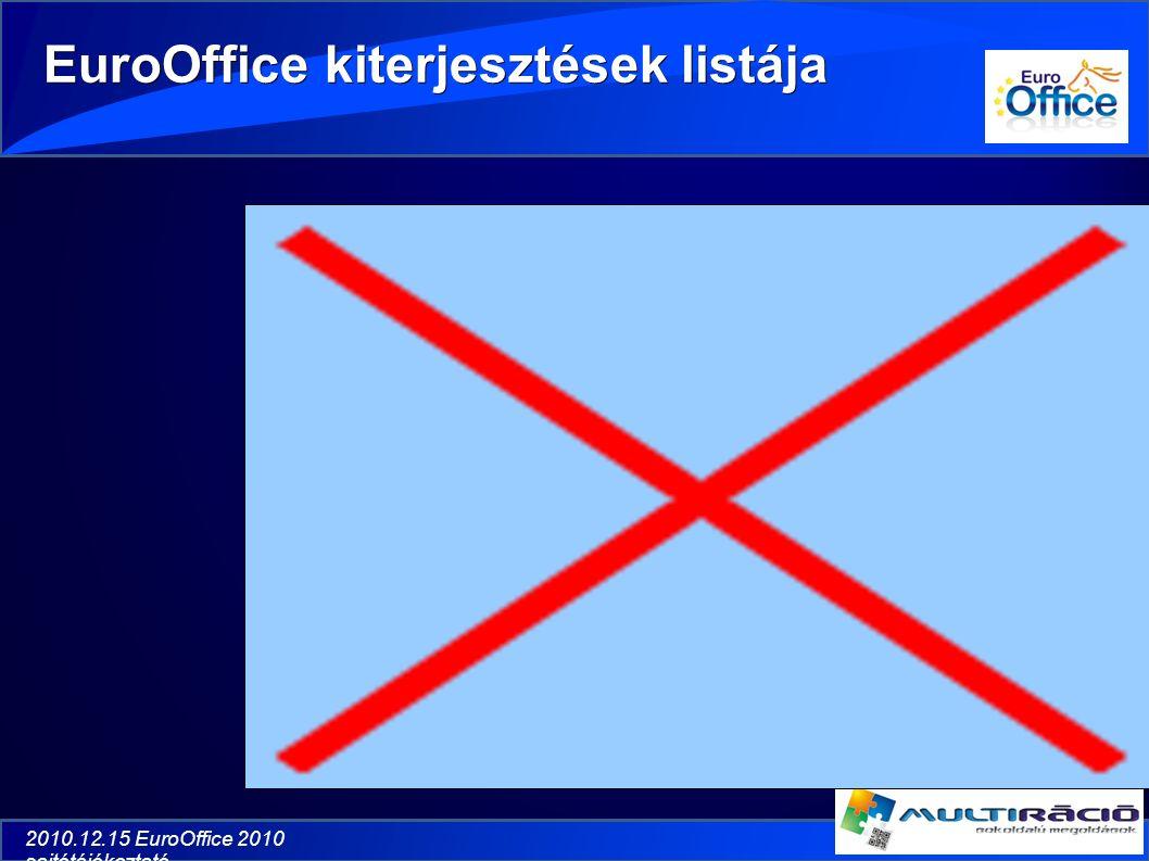 2010.12.15 EuroOffice 2010 sajtótájékoztató EuroOffice kiterjesztések listája