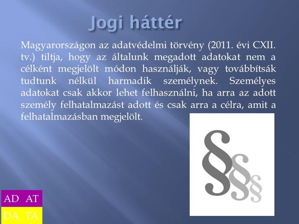 Magyarországon az adatvédelmi törvény (2011.évi CXII.
