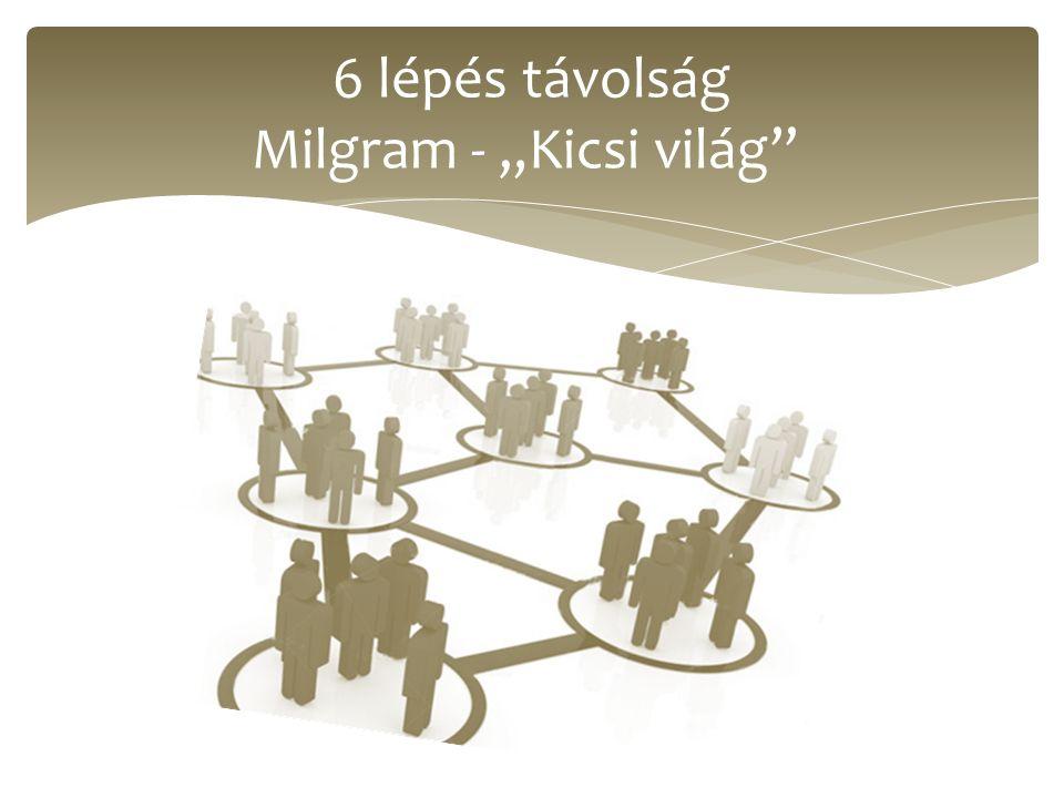 """6 lépés távolság Milgram - """"Kicsi világ"""