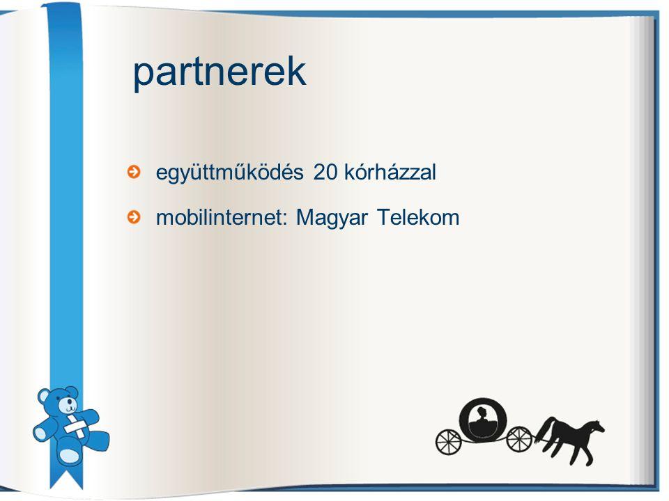 együttműködés 20 kórházzal mobilinternet: Magyar Telekom partnerek