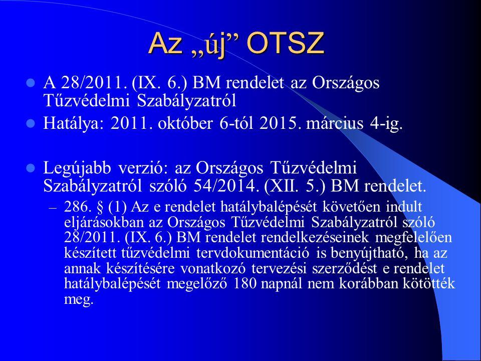 """Az """"ú j OTSZ A 28/2011. (IX. 6.) BM rendelet az Országos Tűzvédelmi Szabályzatról Hatálya: 2011."""