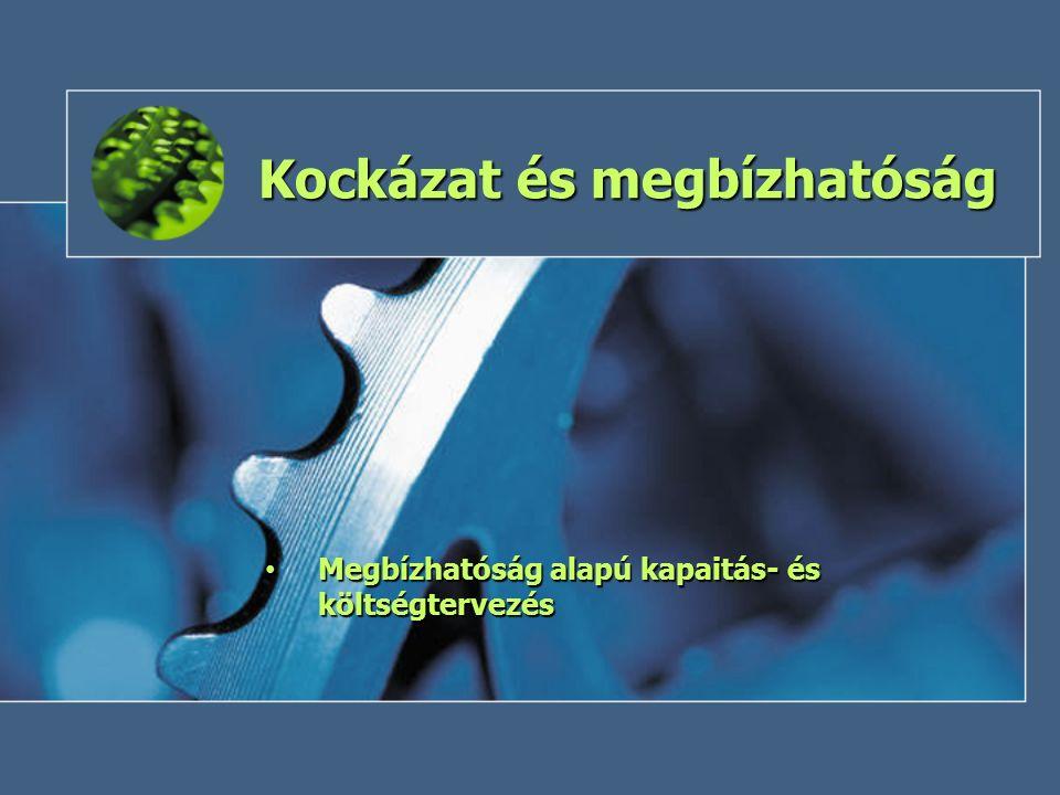 Kockázat és megbízhatóság Megbízhatóság alapú kapaitás- és költségtervezés Megbízhatóság alapú kapaitás- és költségtervezés