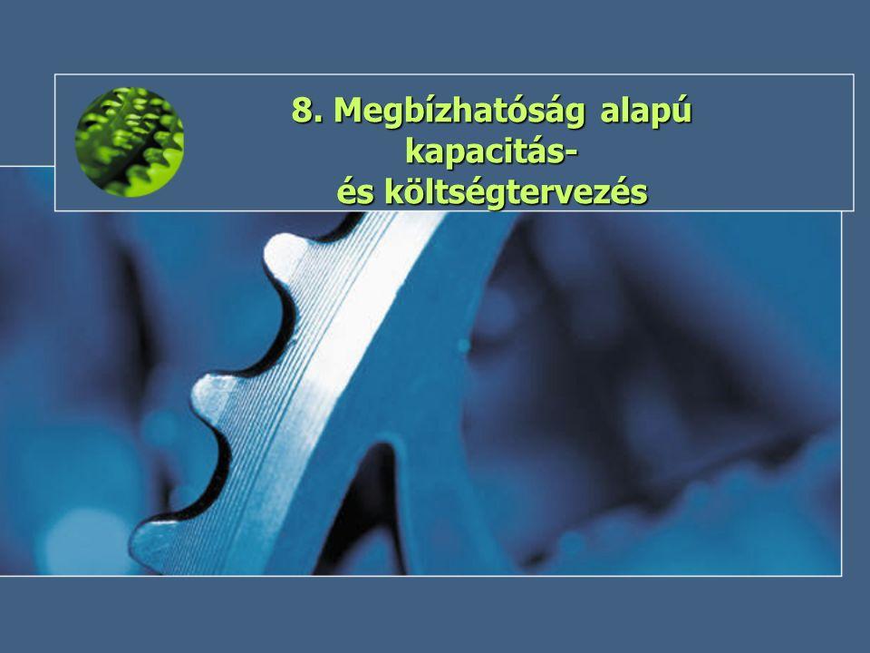 8. Megbízhatóság alapú kapacitás- és költségtervezés