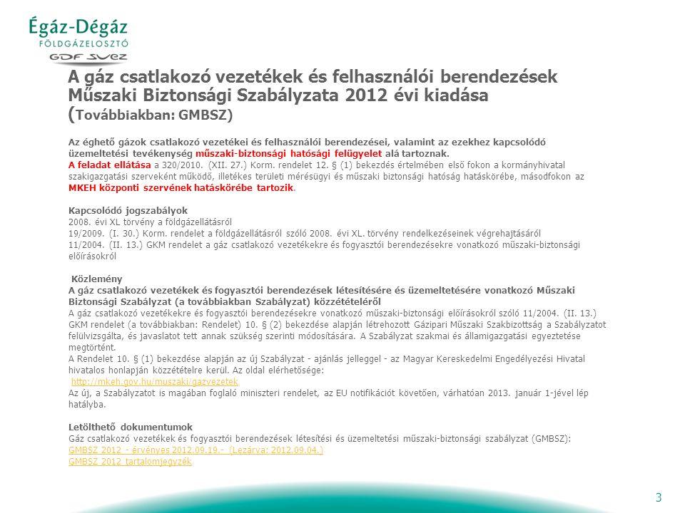 4 GMBSZ 2012 érvényes 2012.09.19.(lezárva 2012.09.04) Tartalomjegyzék: 1.