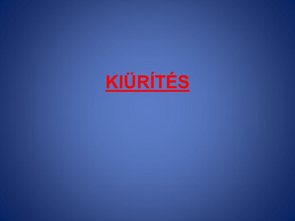 KIÜRÍTÉS