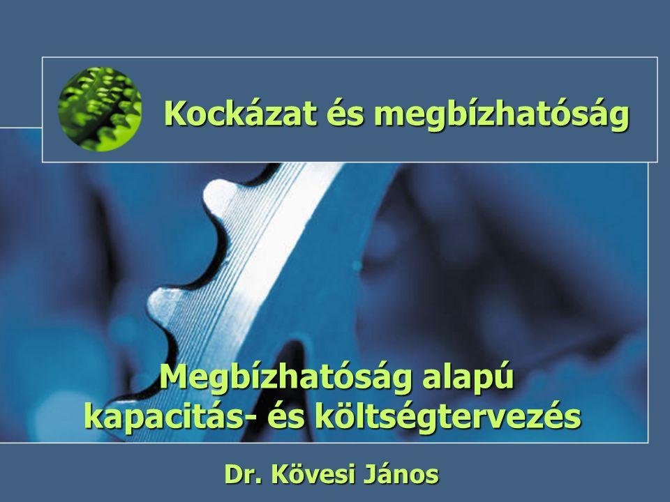 Kockázat és megbízhatóság Megbízhatóság alapú kapacitás- és költségtervezés Dr. Kövesi János