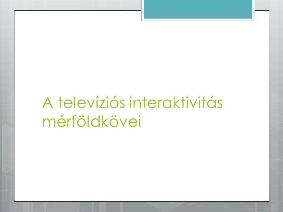 A televíziós interaktivitás mérföldkövei