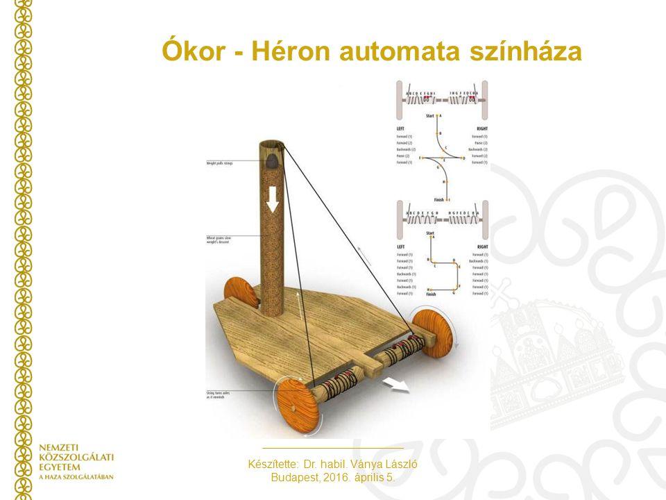Készítette: Dr. habil. Ványa László Budapest, 2016. április 5. Ókor - Héron automata színháza