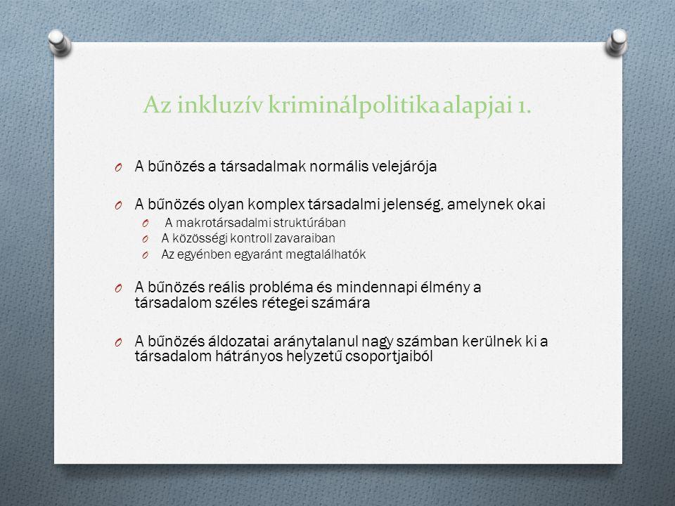 Az inkluzív kriminálpolitika alapjai 1.