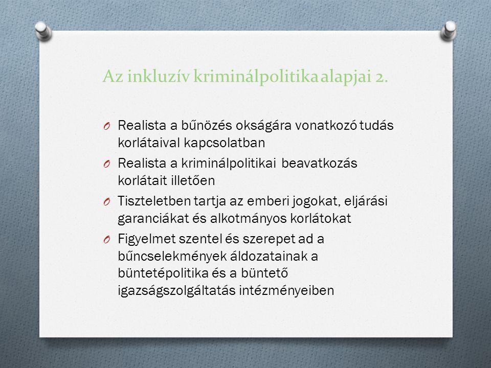 Az inkluzív kriminálpolitika alapjai 2.