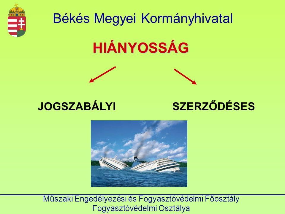 Békés Megyei KormányhivatalHIÁNYOSSÁG JOGSZABÁLYISZERZŐDÉSES
