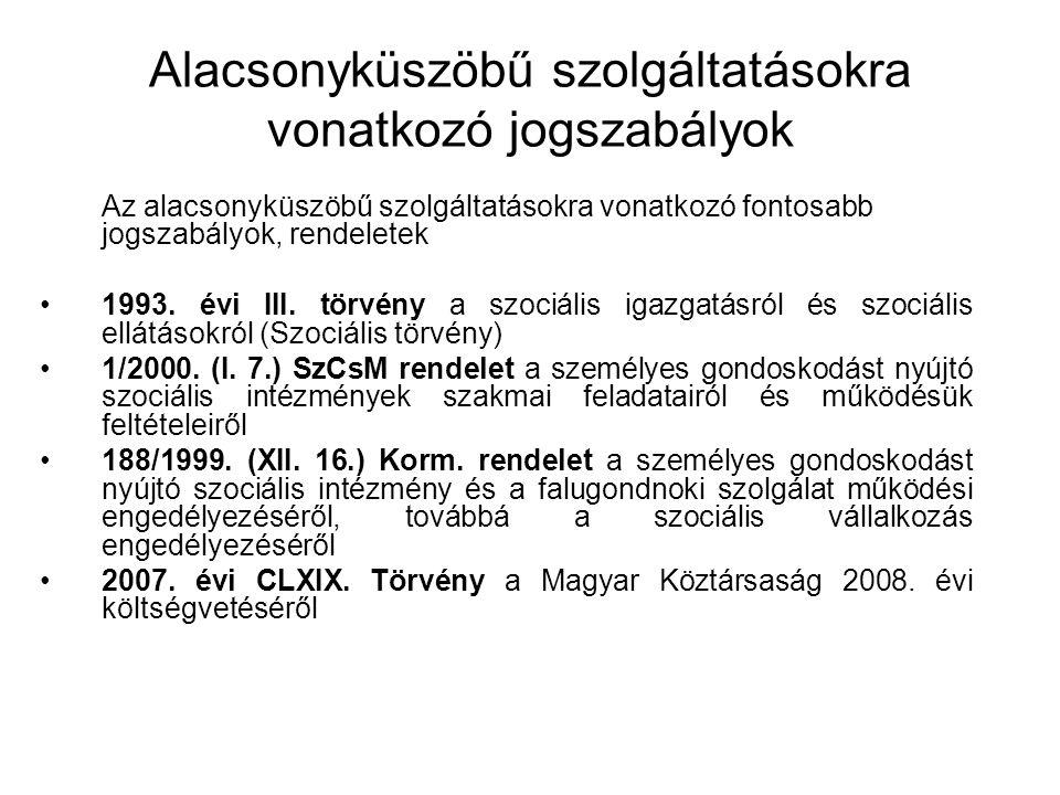 Egyes szociális támogatások 2008.