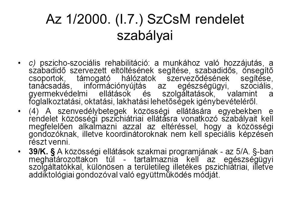 Az 1/2000.(I.7.) SzCsM rendelet szabályai 39/L.