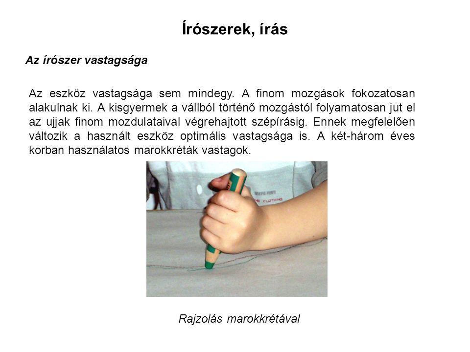Írószerek, írás Az írószer vastagsága Az eszköz vastagsága sem mindegy.
