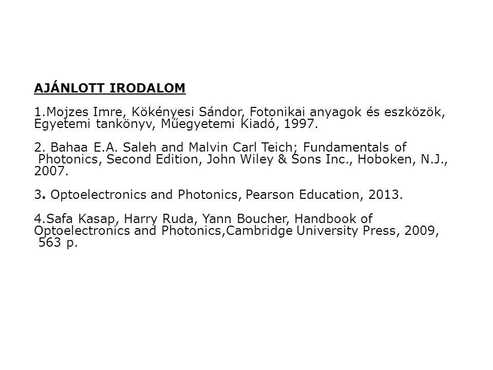 Bevezetés Fény : optika és fotonika, jel-kép-információ-energia-technológia Jel Kép Információ Energia Technológia