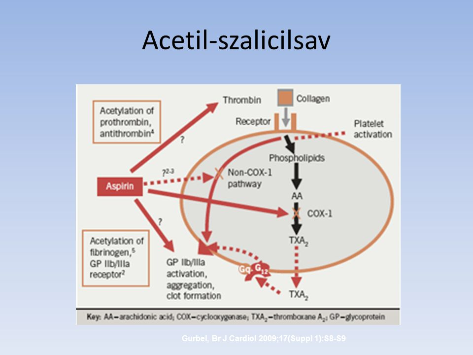 Acetil-szalicilsav Gurbel, Br J Cardiol 2009;17(Suppl 1):S8-S9