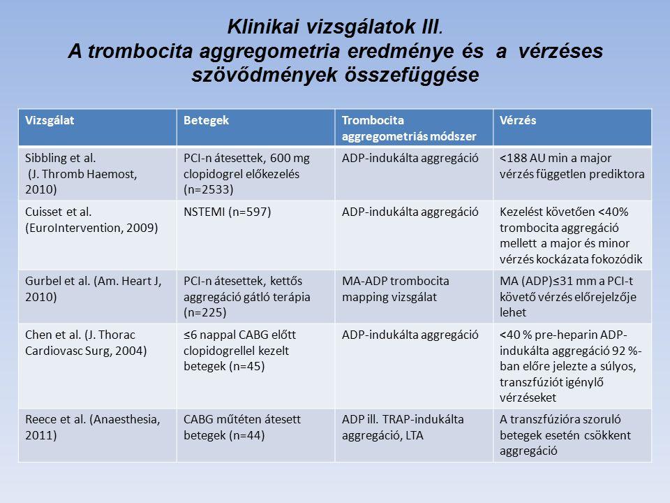 Klinikai vizsgálatok III.