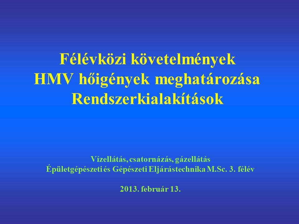 Félévközi követelmények a tárgy előadói: Dr.Barna Lajos Dr.