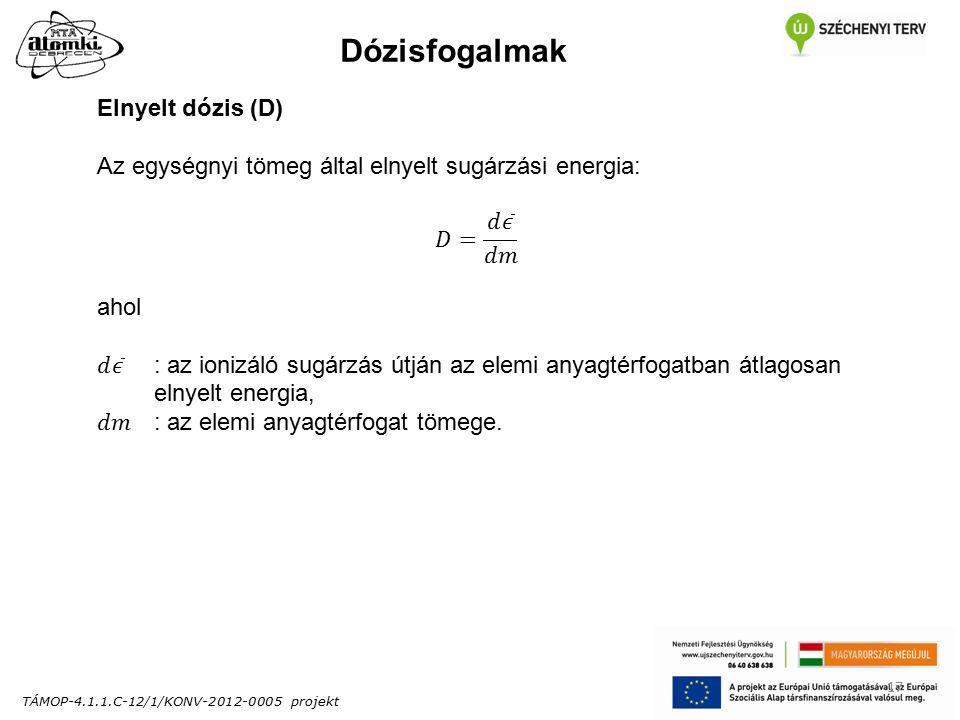 TÁMOP-4.1.1.C-12/1/KONV-2012-0005 projekt 17 Dózisfogalmak