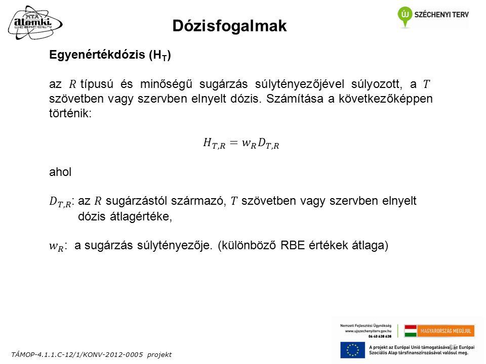 TÁMOP-4.1.1.C-12/1/KONV-2012-0005 projekt 35 Dózisfogalmak